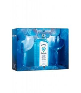Gin Bombay Sapphire + 2 Copas