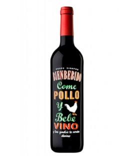 vino tinto bienbebido come pollo