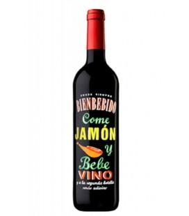 vino tinto bienbebido come jamon