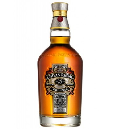 chivas regal 25 years - whisky blended - comprar whisky escoc