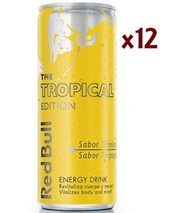 red bull tropical edition - bebida energ