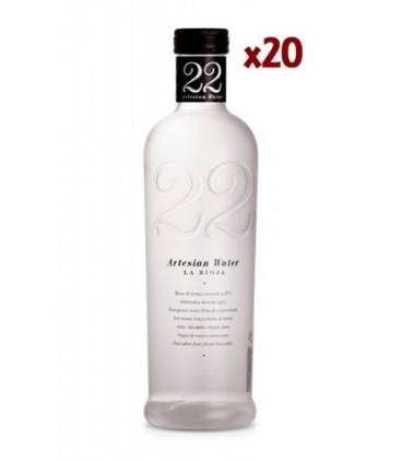 22 artesian water 522 ml - caja 22 artesian water 522 ml  - agua artesiana