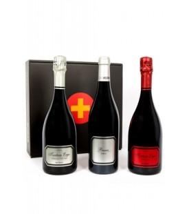 Estuche vinos y cavas de Valencia (2 Cavas Tantum Ergo + 1 Vino Bassus)