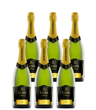 pack 6 botellas luna de murviedro brut