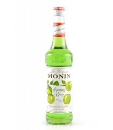 sirope monin manzana verde - monin green apple syrup