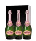 estuche 3 botellas grandin grande reserve brut rose - grandin rose - grandin