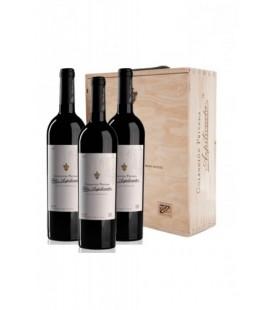 Estuche madera 3 botellas Felix Azpilicueta colección privada 2010