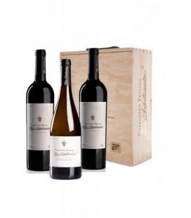 Estuche Madera 2 Botellas Tinto, 1 Blanco Felix Azpilicueta Colección Privada
