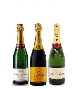 Pack Moët & Chandon, Veuve Clicquot , Laurent Perrier