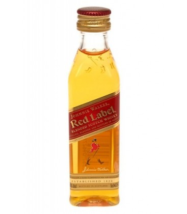 miniatura johnnie walker red label - comprar miniatura red label - whisky