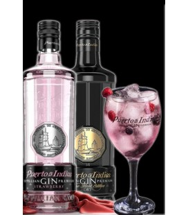 Gin Puerto de Indias (Strawberry + Pure Black) + REGALO COPA