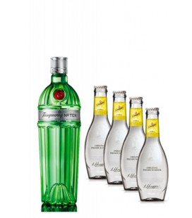 Pack Tanqueray Nº 10 + 4 tonicas Schweppes Premium
