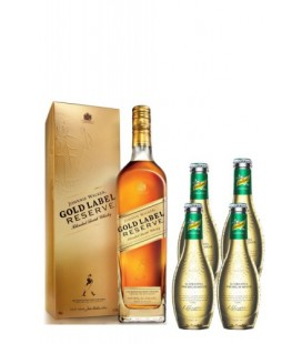 Pack Johnnie Walker Gold Label Reserve + 4 Ginger ale Schweppes