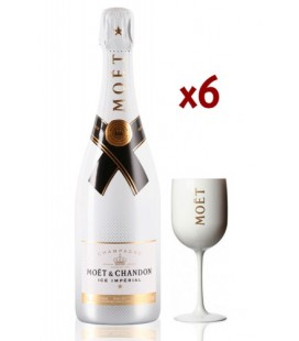Pack 6 Moet & Chandon Ice Imperial + Regalo 3 Copas exclusivas