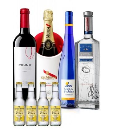 pruno - martin millers - mar de frades - mumm - fever tree - pack - comprar pack