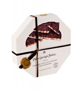 Torta de turrón de chocolate fondant con almendras Premium Garrigós 200gr