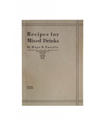 recipes for mixed drinks - hugo r. ensslin - libro cocteler