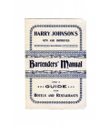 harry johnson's bartender's manual - harry johnson - libro de recetas - coctel