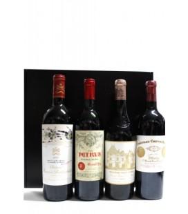 Estuche Mejores Vinos de Francia (Mouton Rothschild, Petrus 1988, Chateau Haut y Chateau Cheval)