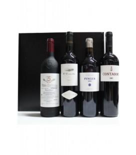 Estuche Luxe Mejores Vinos de España (Vega Sicilia, L'Ermita, Pingus, Contador)