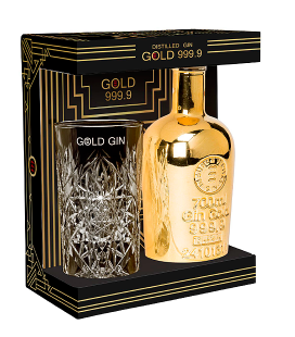 Gin Gold 999.9 Estuche con Vaso