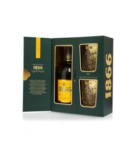 Estuche Brandy 1866 Gran Reserva & 2 Vasos