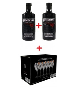 2 Botellas Gin Brockmans + 6 Copas