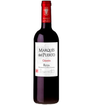 vino tinto marques del puerto crianza - la rioja