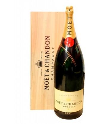 moet & chandon brut imperial 12l - caja de madera - champagne - vino espumoso