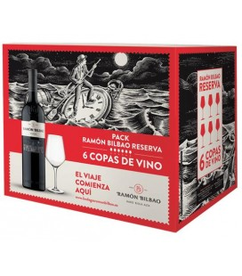 6 Botellas Ramon Bilbao Reserva + Regalo 6 Copas Exclusivas