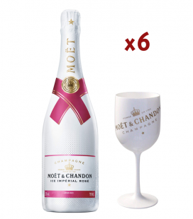 Pack 6 Moet & Chandon Ice Imperial Rose + 3 Copas Exclusivas