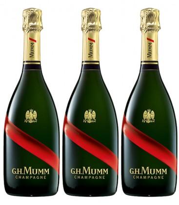 pack 3 champagne mumm cordon rouge