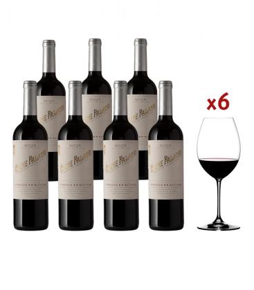 Promocaja 6 botellas Cosme Palacio Crianza Mas 6 Copas