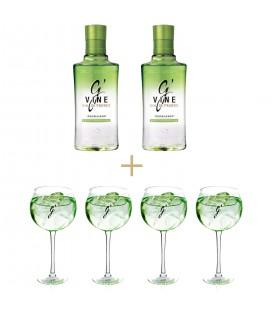 2 BOTELLAS GIN G'Vine Floraison + 4 COPAS