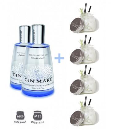 Gin Mare + Regalo 6 Tarros Med Cocktails