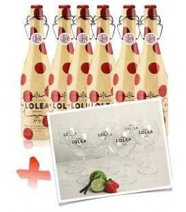 Pack 6 Botellas Lolea N.2 75cl. + 6 Copas Lolea.