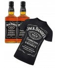 Pack 2 Botellas Jack Daniel´s 75cl. + Camiseta Jack Daniel´s
