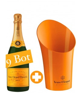 9 Botellas Veuve Clicquot Brut 75cl + Champagnera Exclusiva Veuve .