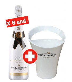 6 Botellas Moet & Chandon Ice Imperial + Champagnera Exclusiva.