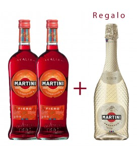 Pack 2 Martini Fiero + Martini Prosecco Vintage Regalo