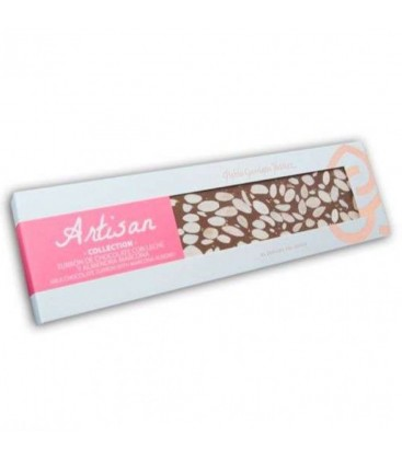 Turrón De Chocolate Con Leche Y Almendra Marcona Artisan Collection 220gr.