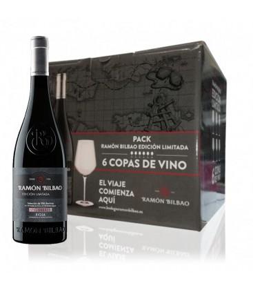 Caja 6 Botellas Ramon Bilbao Reserva + Regalo 6 Copas De La Marca .