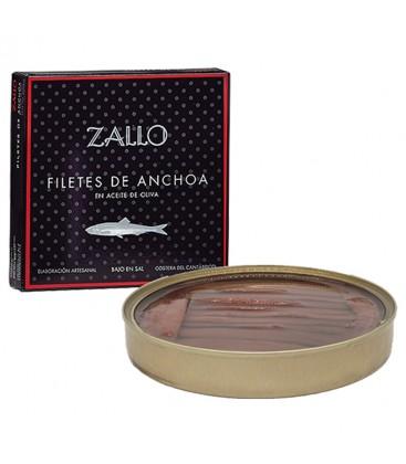 Filetes De Anchoa Del Cantabrico Zallo En Aceite De Oliva Serie Negra 26 Unidades 85gr.