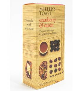 Millers Toast Arandano y Pasas 100gr.