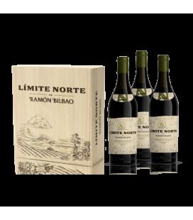 Caja Madera 3 Bot Limite Norte De Ramon Bilbao Blanco