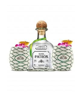 Tequila Patron Silver + Dos Vasos Tiki