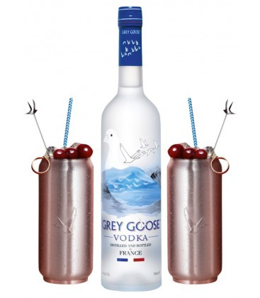 Grey Goose Vodka Premium + 2 Vasos Soda Can