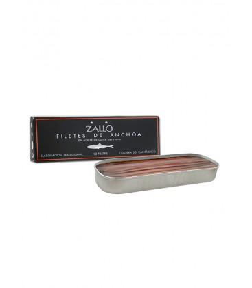 Filetes De Anchoa Del Cantabrico Zallo En Aceite De Oliva Serie Negra 12 Und.