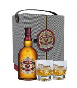 Maletin Chivas Regal 12 años + 2 Vasos