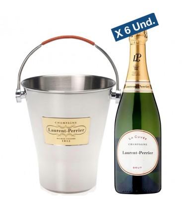 Pack 6 Botellas Lurent Perrier La Cuvee + Champanera Exclusiva